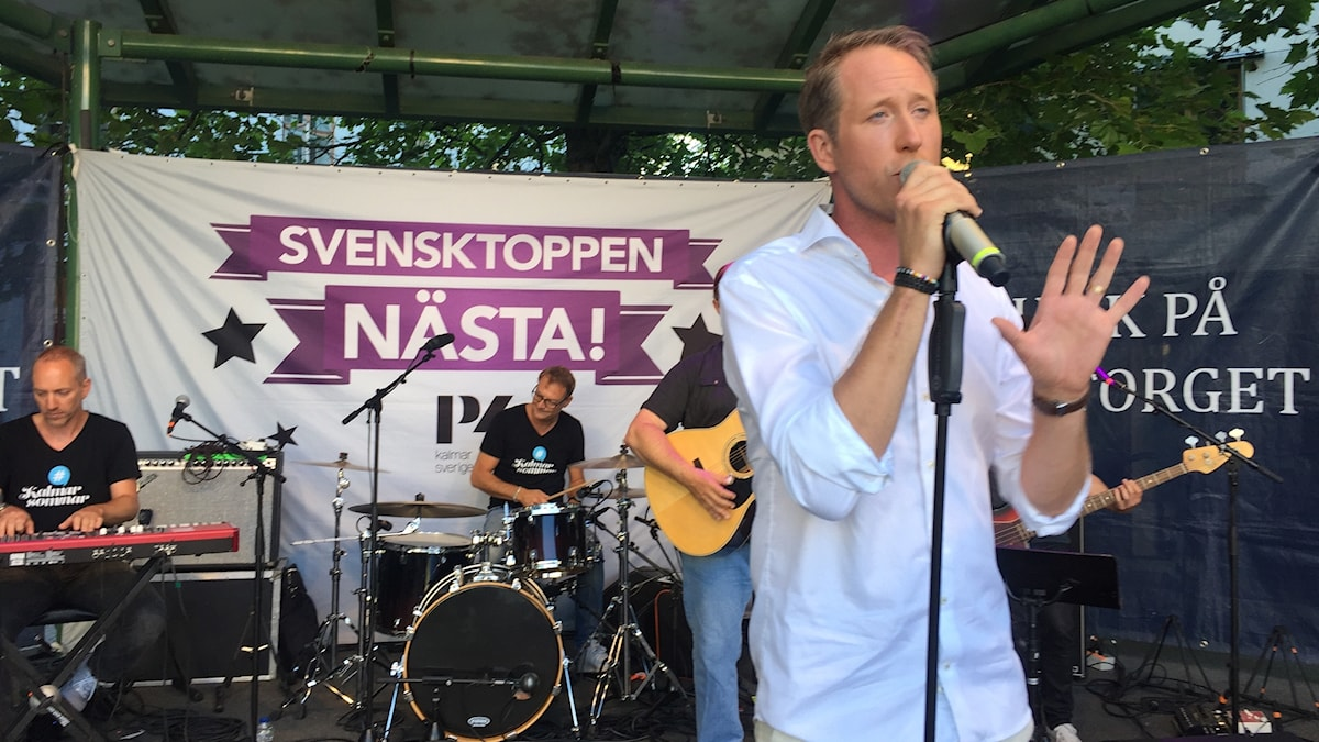 Daniel Alleved på Larmtorget.