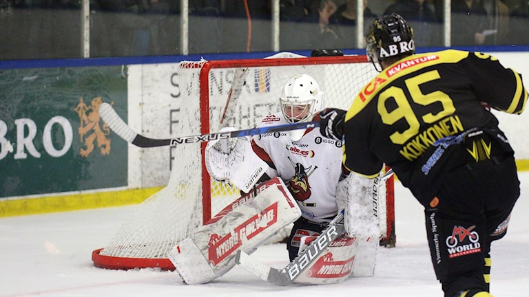 Hockeymålvakten Alexander Johansson i Nybrodress.