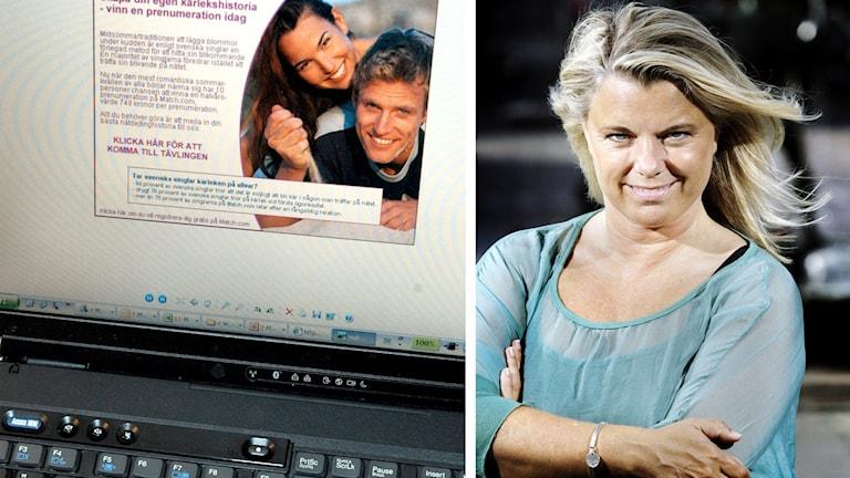 Kollage: Nätdejting/Carin Hjulström.