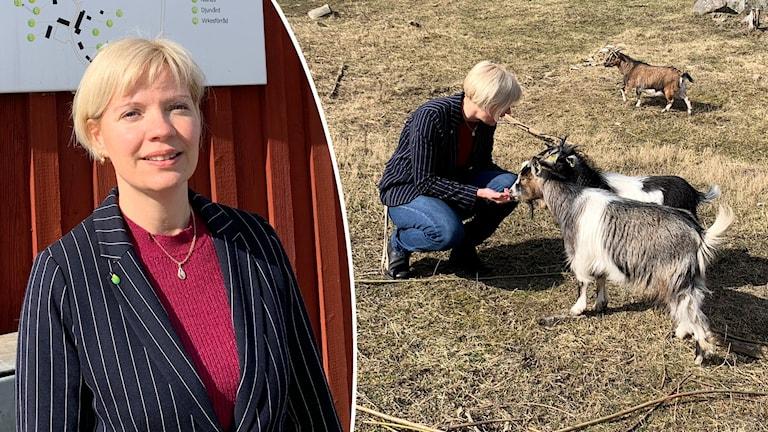 Märta Jensen, rektor för Naturbruksgymnasiet i Gamleby.