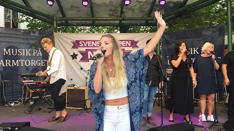 Maja Söderström på Larmtorget.