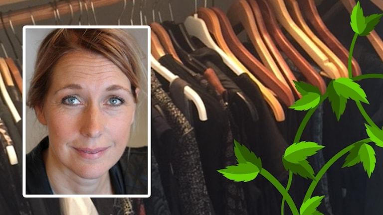Jessica Bergsjö och garderob.
