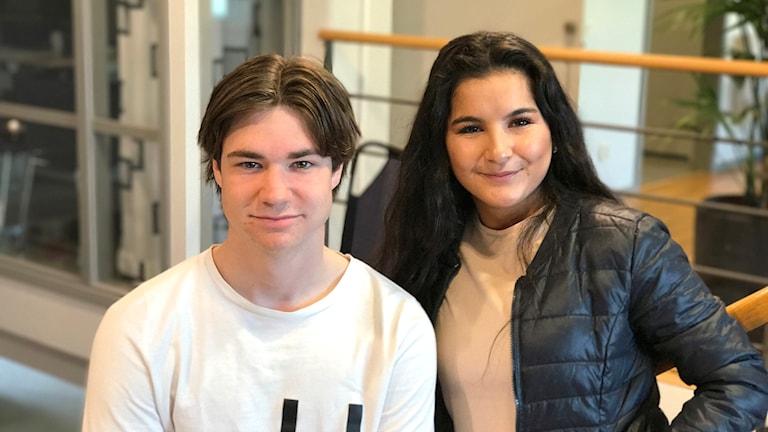 Wilmer Samuelsson och Ranya Eliassi