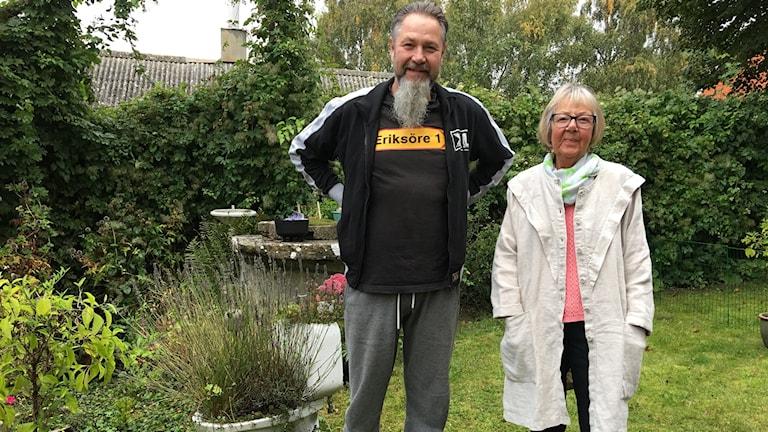 Micael och hans mor Ulla Rejbrand