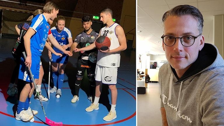 Spelare och Jesper Birgemo.