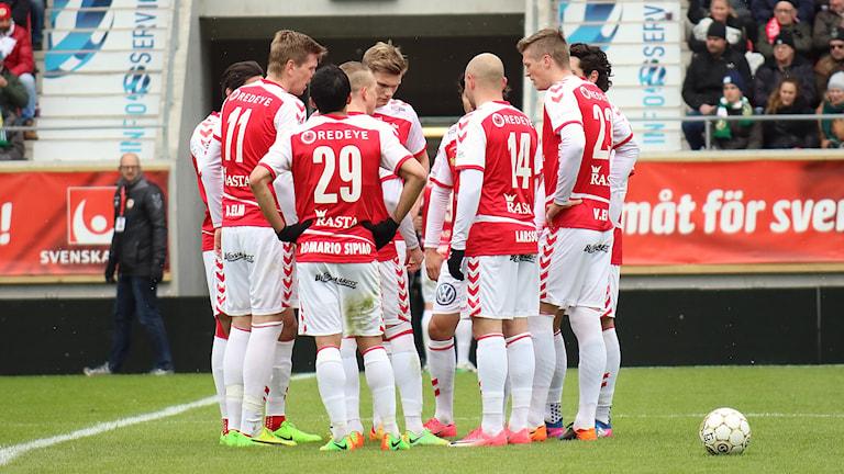 Kalmar FF-spelare på plan.