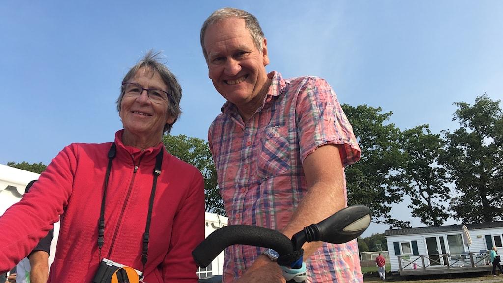 Jenn och Peter Weeks, tandemcyklister från Storbritannien.