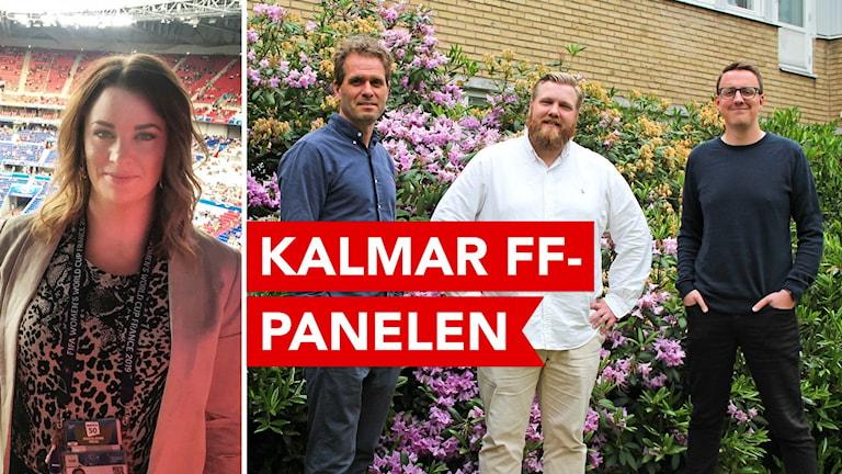 Fyra personer som är med i Kalmar FF-panelen.