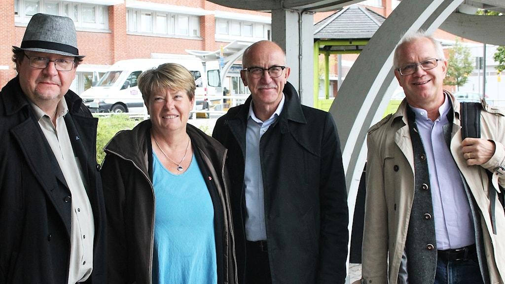 Pierre Edström, Yvonne Hagberg, Anders Henriksson och Christer Jonsson