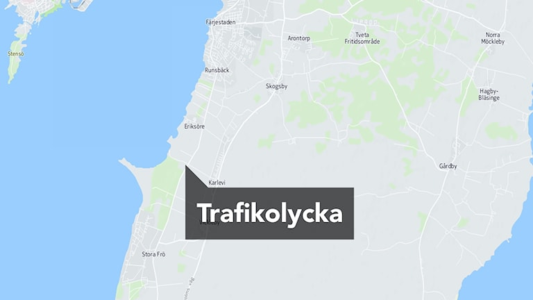 Olycksplatsen på karta
