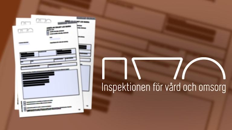 Kollage: anmälan, inspektionen för vård och omsorg.
