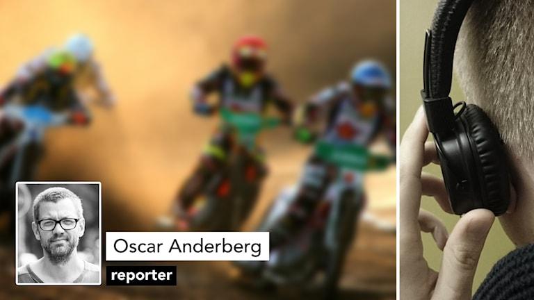 Speedwaycyklar och Oscar Anderberg.