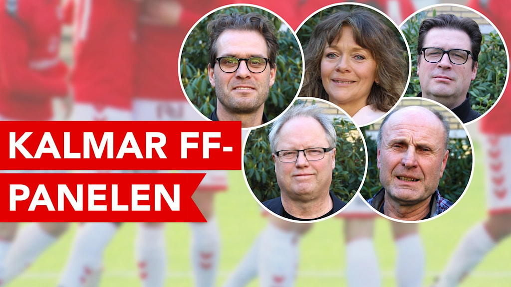 Fem personer som är del av Kalmar FF-panelen.