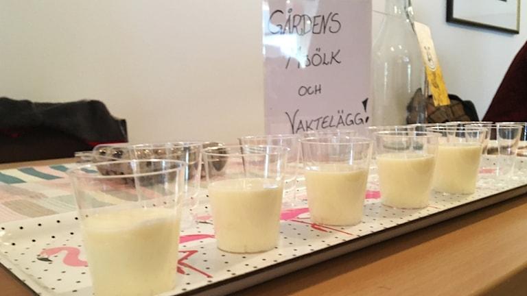 Glas med mjölk