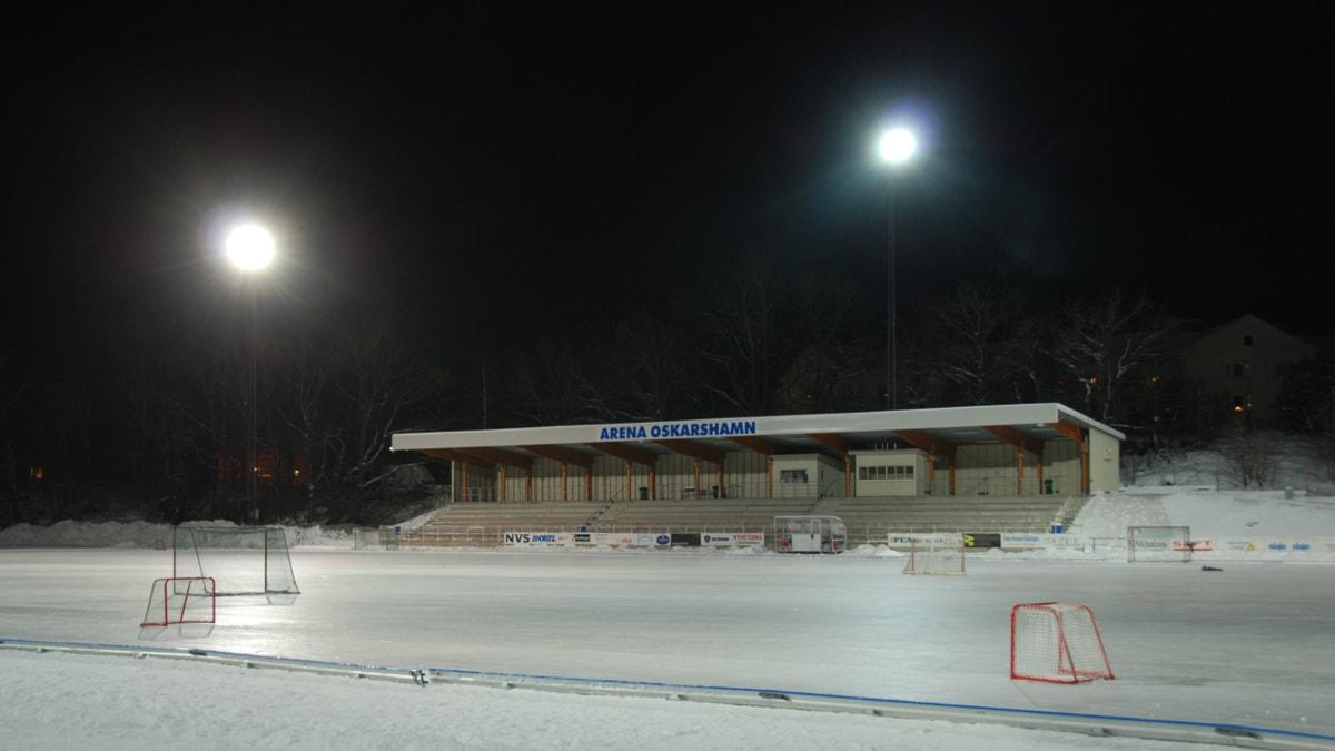 Arena Oskarshamn. Isbana.