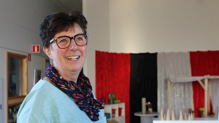 Margareta Lundgren förskolechef på Solkullen i Gamleby.