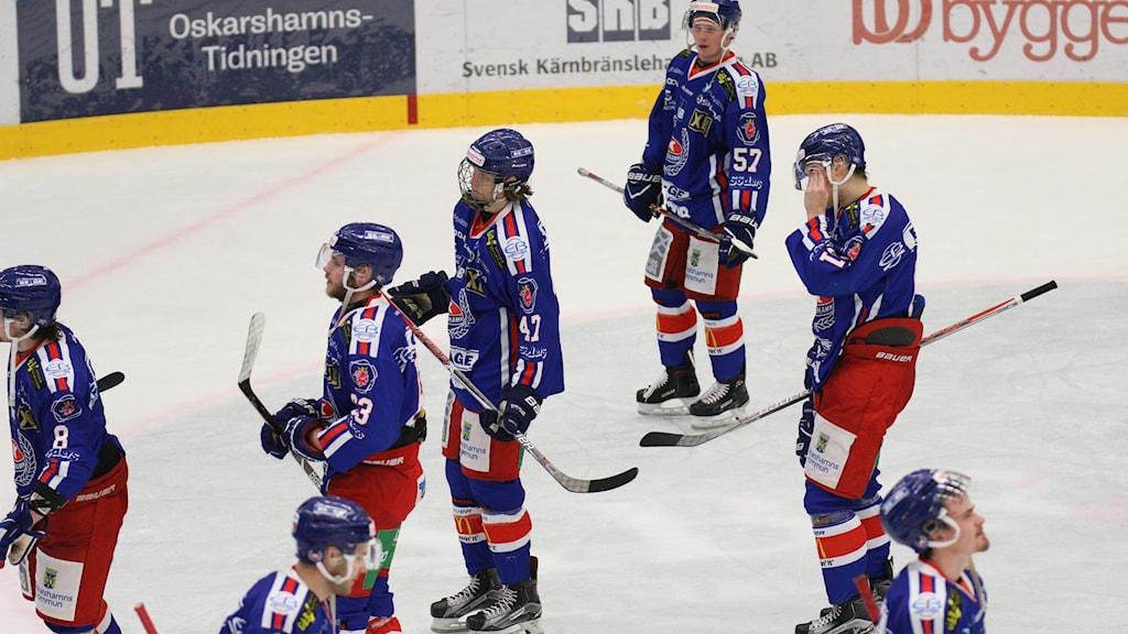 IK Oskarshamn-spelare deppar