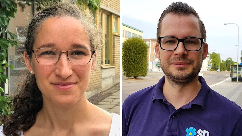 Laila Naraghi och Mattias Bäckström Johansson