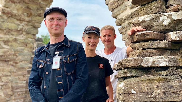 Jan Westergren, Gunnel Rosenquist och Rikard Möller har jobbat med restaureringen.