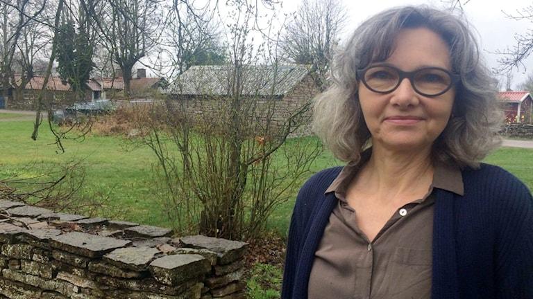 Gudrun Thielemann som är ordförande i Vickleby byförening