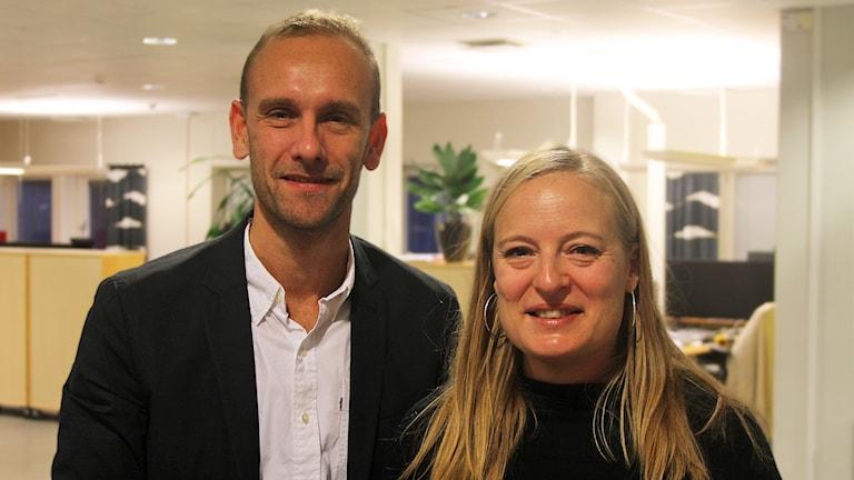 Daniel Rylander och Mia Carlsson