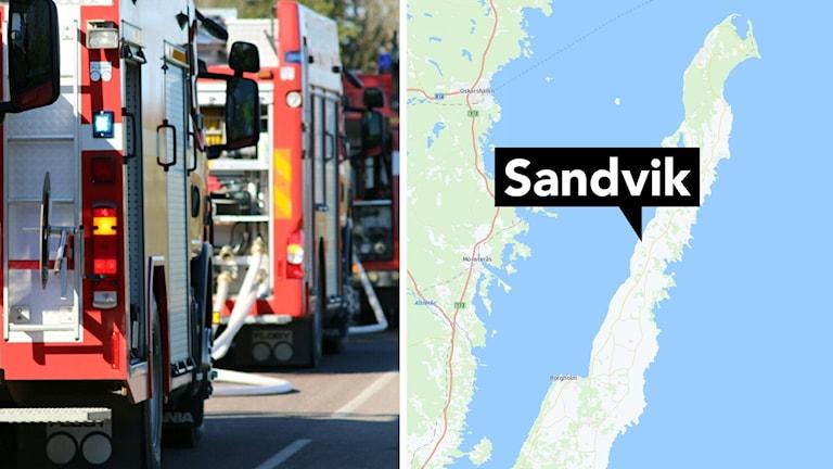 Karta: Sandvik.