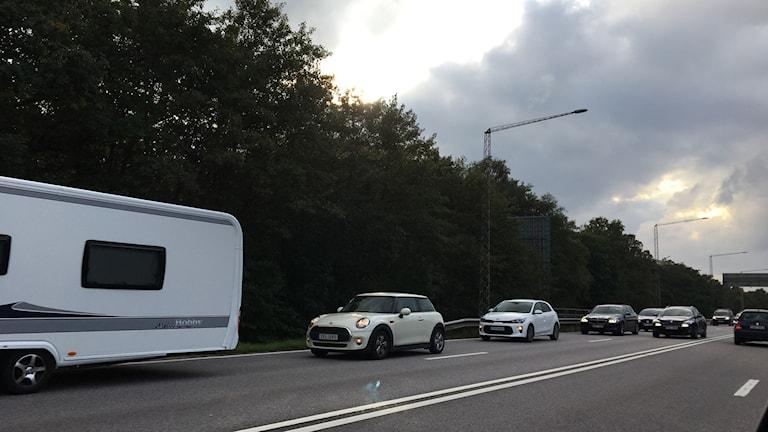 trångt på vägen mot Ölandsbron