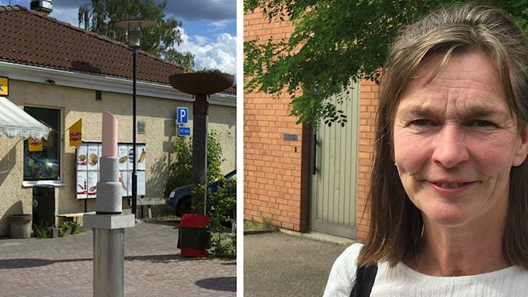 Monument av Åsa Jungnelius och Liselotte Henriksen.