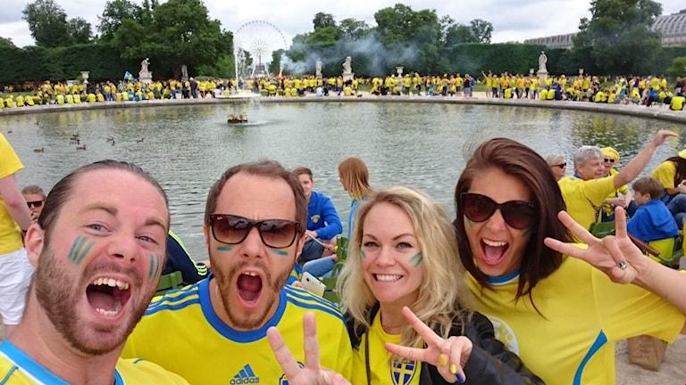 Svenska supportrar i Frankrike