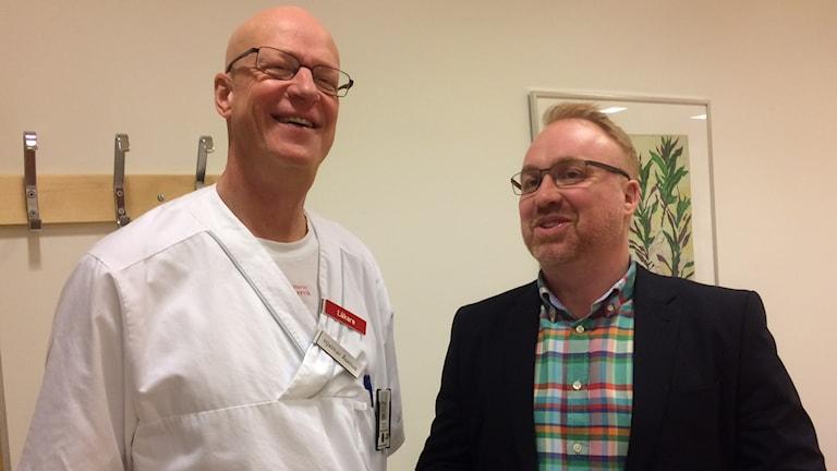 Hjalmar Åselius verksamhetschef medicinkliniken Västervik och Henrik Holmberg sjukhuschef Västervik.