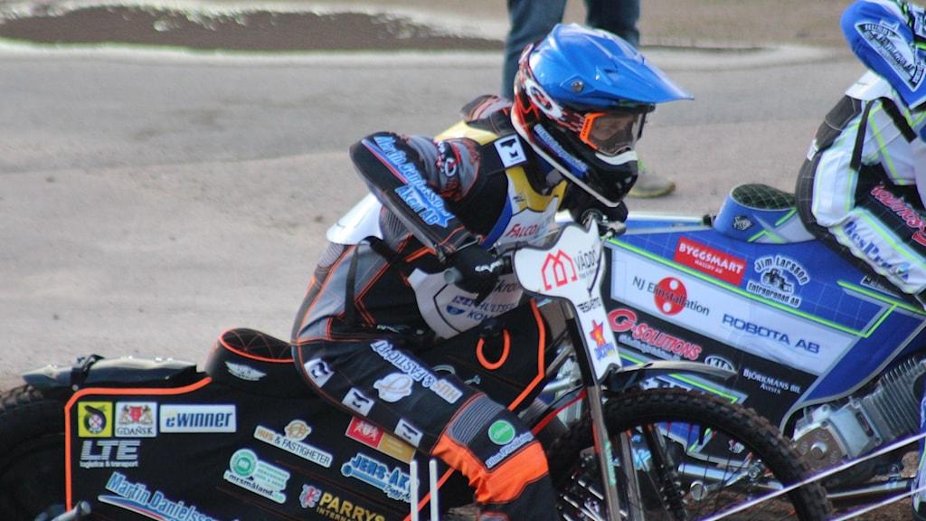 Jacob Thorssell vid startlinjen.