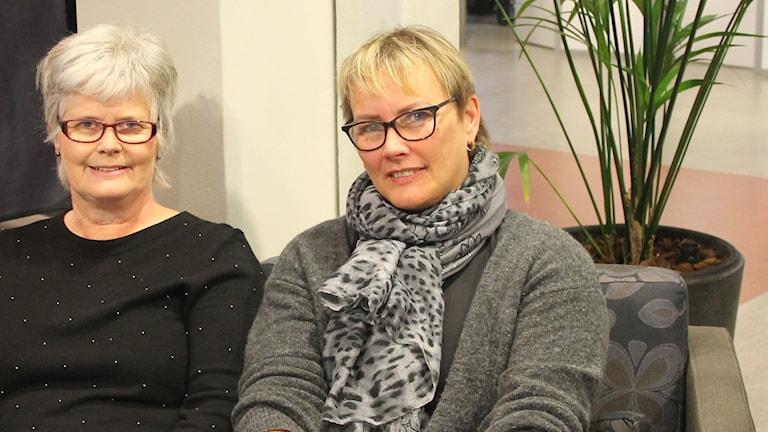 Bild på Birgitta Agnesson, Kunskapsnavet i Kalmar och Carina Lindgren, Arbetsförmedlingen Kalmar.