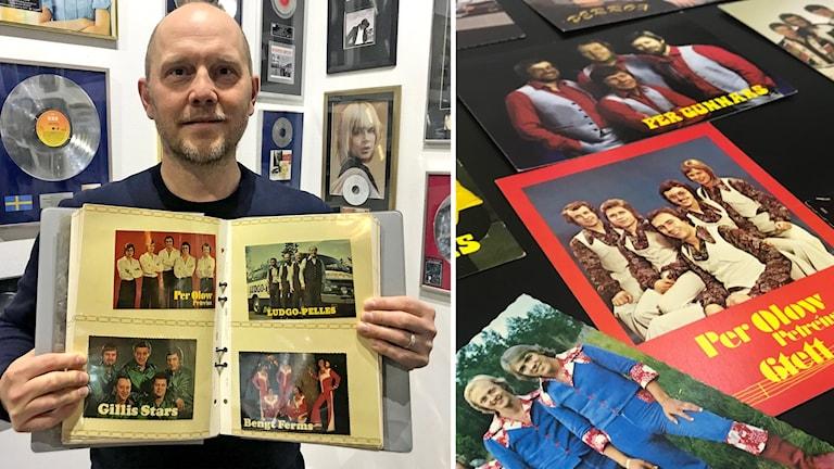 Svenskt Rockarkiv i Hultfred har fått en gåva på tusentals dansbandsvykort.