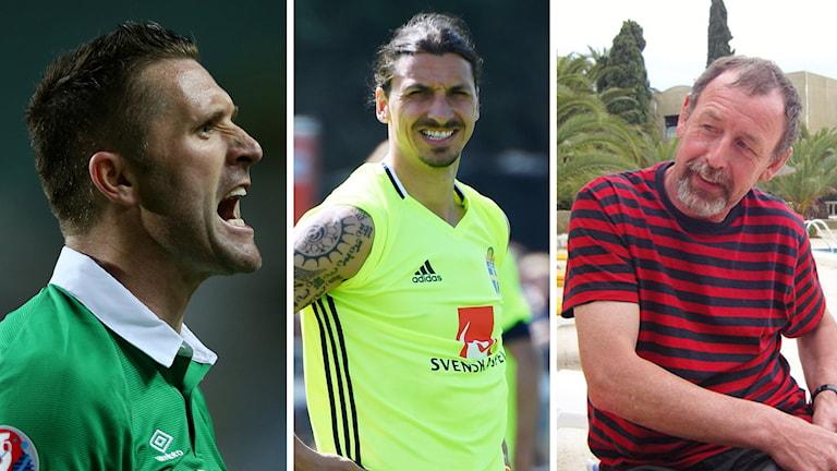 Robbie Keane, Zlatan Ibrahimovic och Gerry Cassidy.