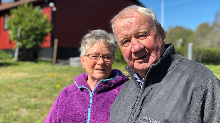 Irene och John-Ivar Andersson i Lilla Laxemar.