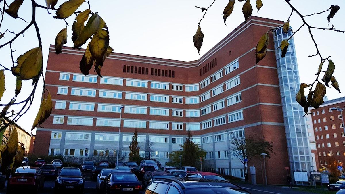 Sjukhusbyggnad.