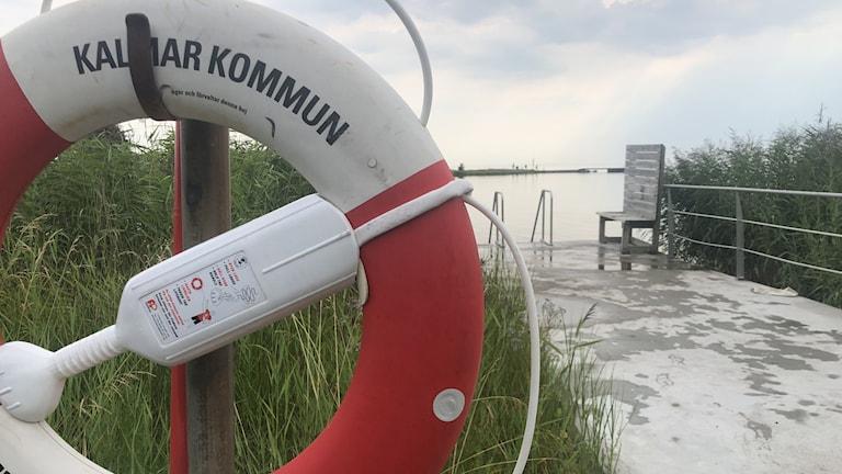 En badplats i Kalmar.