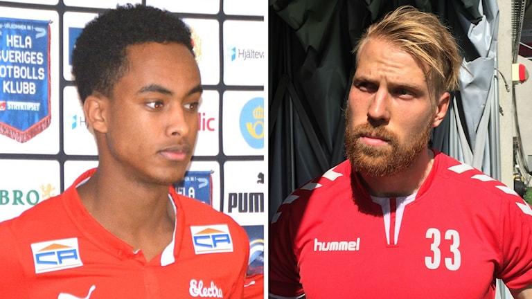 Muktar Ahmed och Henri Anier