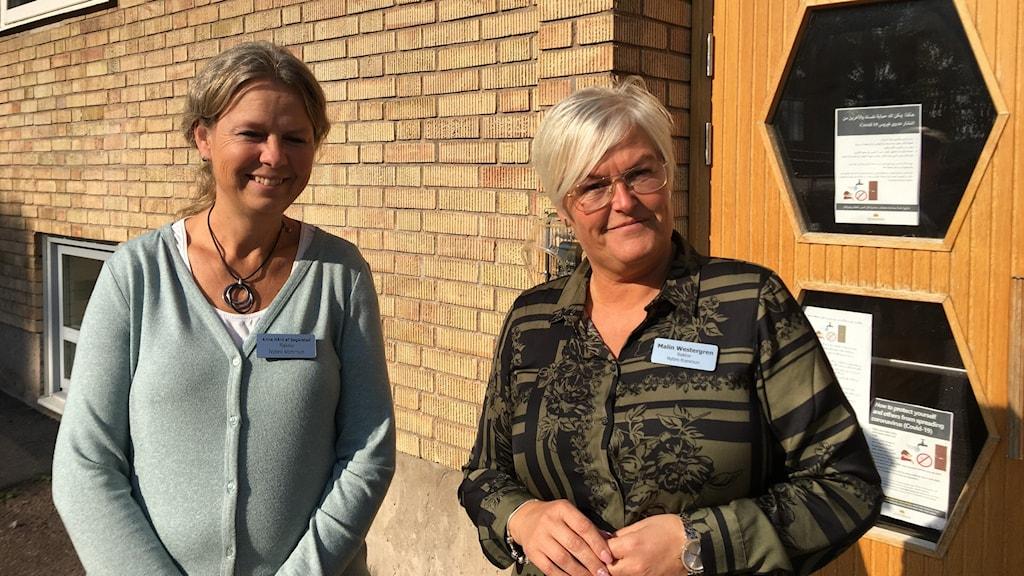 Rektorerna på Fagerslättskolan i Nybro: Anna Hård af Segerstad och Malin Westergren.