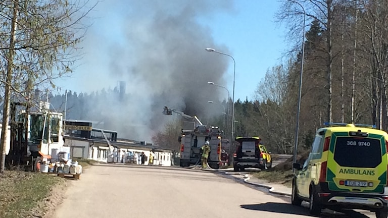 brand i möbelfabrik i järnforsen