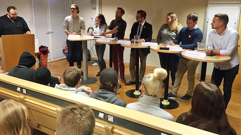 Skoldebatt på Mönsterås gymnasium.