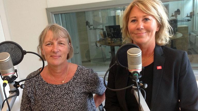 Lena Arvidsson och Ingeborg Eriksson.