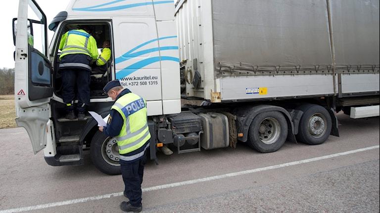 Trafikpoliser.