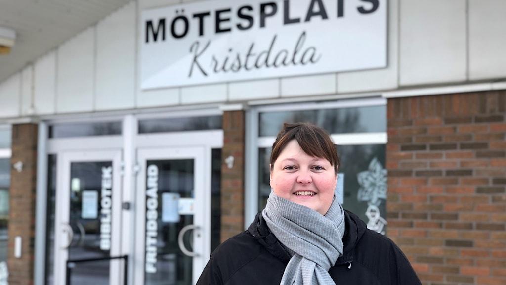 Annicka Gunnarsson ordförande Kristdala samhällsförening.