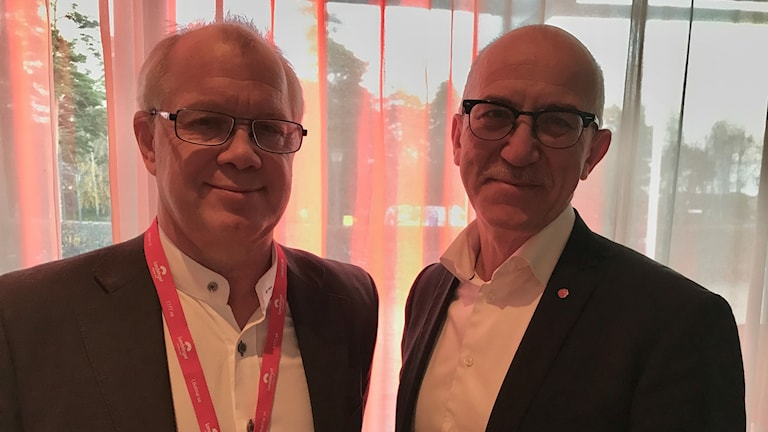 Christer Jonsson, centerpartistiskt landstingsråd och Anders Henriksson, socialdemokratiskt landstingsråd i Kalmar län.