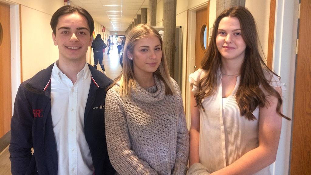 Lirim Gashi, Stephanie Eriksson och Isabella Persson