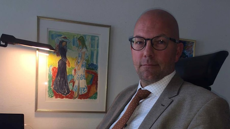 Peter Högberg på sitt kontor i landstingshuset