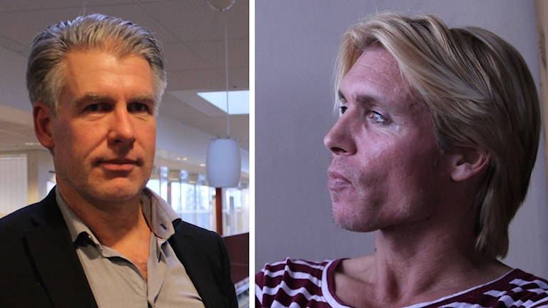 Anders Björlin, kommundirektör i Västervik och Fredrik Garlén ordförande RFSL norra Kalmar län.