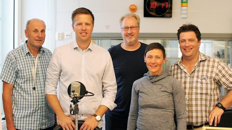 Kalmar FF-panelen i en studio