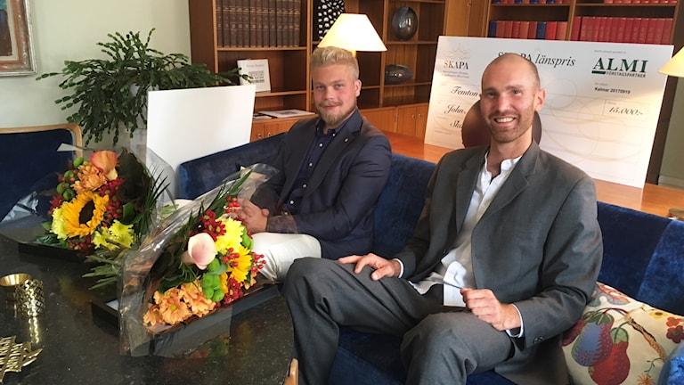 SKAPA-vinnarna John Nyberg och Andreas Hermansson.